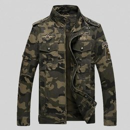 Wholesale Embroidery Air Force Medal Collar Slim Camouflage Coat Military Jacket Hunting Clothes Army Jacket Men Outdoor Jackets And Coats