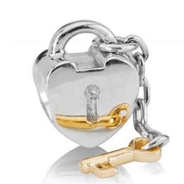 Corazón del oro de la pulsera 925 en Línea-Corazón por mayor bloqueo encanto clave oro 925 plata encanto europeo del grano en forma de serpiente cadena pulsera joyería