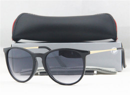 Wholesale Fashion Branded Men s Erika Pilot Sunglasses Designer T4171 Square Solstice SunGlass colors box card case