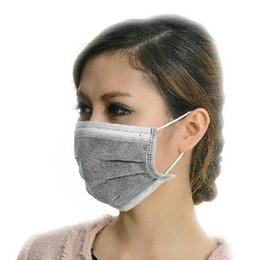 Armadura usada en Línea-Las mascarillas médicas no tejidas grises 50Pcs / Lot de la venta al por mayor usan las máscaras plegables YC0007 del anti-virus de las máscaras faciales del uso de Salebags