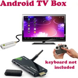 Wholesale Smart Android TV Stick Quad Core Rockchip RK3188 TV Box Mini PC Set Top Box With Wifi Antenna Bluetooth HDMI Output Electronic