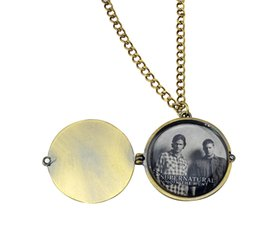 Wholesale European style Opened Box Jensen Ackles Jared Padalecki Photos Saving People Supernatural Necklace