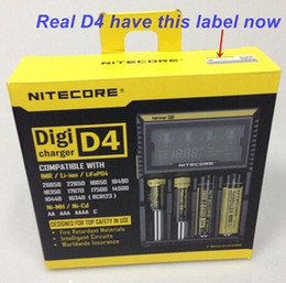 Wholesale Genuine Nitecore D4 I2 I4 D2 UM10 UM20 Universal Intellicharger LCD Display E Cigarettes Charger for Li on Battery