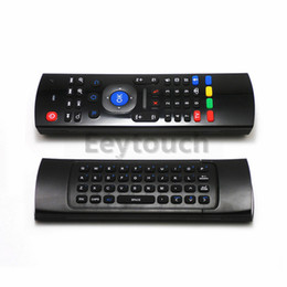 Wholesale X8 Mini Wireless Keyboard Air Mouse Remote G Sensing Gyroscope Sensors MIC Combo MX3 M For MX3 MXQ M8S M95 S905 RK3229 Gear Android TV BOX20