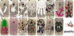 Transparent TPU Case Henna White Paisley Flower Mandala Owl Lovers Eiffel For Iphone 5 5S 6 6S 4.7 Plus Dreamcatcher Butterfly Skin