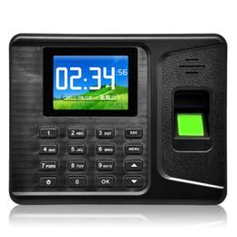Wholesale 2 Inch TFT USB Flash Drive Download Fingerprint door lock Attendance Machine Employee Payroll Recorder ACA_249