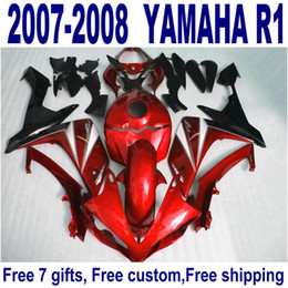 NEW Fairings for YAMAHA YZF R1 2007 2008 red black motorcycle fairing kits YZF-R1 07 08 ER13 + 7 gifts