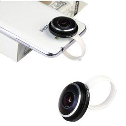 Universal New Standard Super Circle Fisheye Lens 235 Degree Clip for iPone Samsung for HTC LG