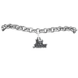 Wholesale I Love Judo Sport Charm Rolo Chain Bracelet 100pcs A lot Message Link Chain Antique Silver Plated