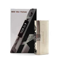 Evic vtc en venta-100% auténtico Kang KBOX Mini Platinum MOD 60W TC Mod KBOX Mini VS Kang Nebox Joyetech Evic VT VTC Mini
