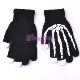 Wholesale New Winter Warm Gloves Skull Telefingers Touchscreen Texting Gloves Magic Smartphone Adult For Ipad Iphone G S