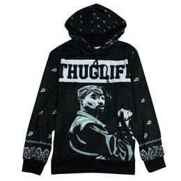 Wholesale-Alisister winter harajuku men women's sweatshirt 3d print tupac 2pac hoodie hiphop rock punk hooded jacket graphic tops Clothes