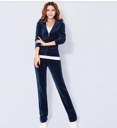 Women's new spring velvet track suit sportswear Spring and Autumn Sweater