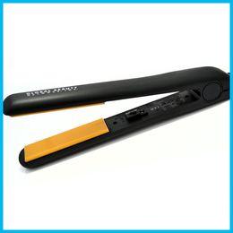 Wholesale Pro quot Ceramic Ionic Tourmaline Flat Iron Hair Straightener with Retail Box new in stock
