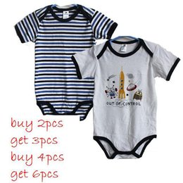 Wholesale Germany Brand Topolino solid stripes Summer newborn organic cotton short one pieces baby bodysuits baby clothing
