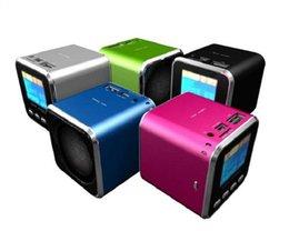 Acheter en ligne Le sport pc-Mini Audio Haut-parleur Portable Audio Metal LCD pour MP3 MP4 ipodiphone PSP PC portable