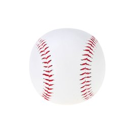 Wholesale 1Pcs Hand Sewing Baseball quot Handmade PVC Upper Rubber Inner Soft Baseball for Exercise Training Softball Sport Team Game White