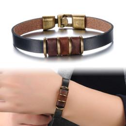 Men Jewelry Leather Bracelet Men Vintage Charm Bracelets Bangles Genuine Leather Bracelet Pulseiras Masculina Wholesale PH877