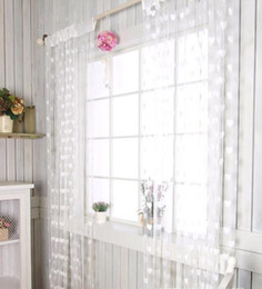 Wholesale Wedding backdrop curtain love heart tassel Screens Room Dividers Rod Pocket door sheer Curtain new party decoration props colorful gift