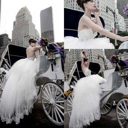 2015 Vintage Pnina Tornai Ball Gown Wedding Dresses Sweetheart Floor Length Corset Wedding Dresses Lace Wedding Gowns Custom Made