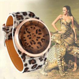 car New Free Shipping Leopard Big Watch Fashion Women Design Ladies Quartz Wrist Watches Fashion Watches