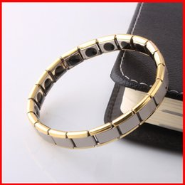 Wholesale Titanium Germaniu Energy Magnetic power Bracelet gold Energy power bracelets Energy Wrist Band for women men health function jewelry