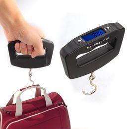 Wholesale Black LED Digital Kg g Fish Hook Hanging Electronic Weighting Luggage Scales