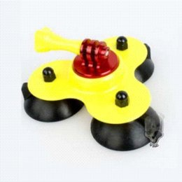 TMC Removable Suction Cup Mount Yellow for Gopro camera hero3+ 3 2,GO PRO accessories tripods +Wholesale cup scale
