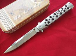 Wholesale Cold Steel quot Ti Lite Folder Knife AUS steel Polish CNC milled handles AST Pocket knife Folding blade knives New in original box
