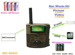 La caza cámara de exploración gsm en Línea-nueva Suntek Escultismo caza de la cámara HC500G HD 3G GPRS MMS Digital 940NM Infrarrojo Sendero de la Cámara GSM 2.0' LCD Hunter Cam Envío Gratis