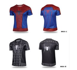 Wholesale 2015 t shirt Batman Spiderman Ironman Superman Captain America Winter soldier Marvel T shirt Avengers Costume Comics Superhero mens