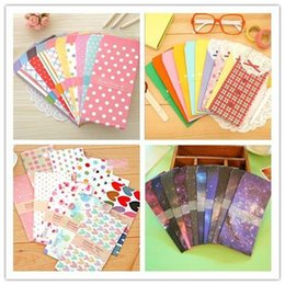 5 PC / empaquetado colorido de papel de la estrella del punto de Kawaii de la nueva historieta linda para el envío libre 808 A5 de los efectos de escritorio coreanos del bebé de la tarjeta del regalo desde papelería sobre de papel fabricantes