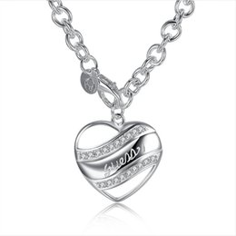 Hot sale Semi solid necklace sterling silver plated necklace STSN172,fashion 925 silver Chains necklace factory direct sale christmas gift