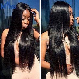 MikeHAIR Malaysian Hair Extensions Wholesale 10 Bundles Remy Human Hair Weaves Peruvian Indian Brazilian Straight Hair Weaving free shipping