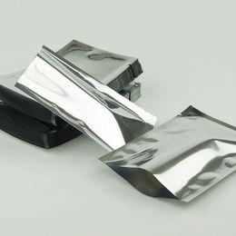 12x18cm plain pocket, 100pieces lot aluminium foil bags heat seal - Silvery aluminzing seeds packing bag, plating foil plastic food pouch