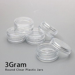 3ML Clear Base Empty Plastic Container Jars Pot 3Gram Size For Cosmetic Cream Eye Shadow Nails Powder Jewelry