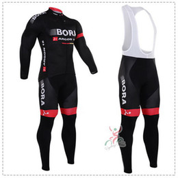 WINTER FLEECE THERMAL CYCLING LONG JERSEY ROPA CICLISMO+ BIB PANTS 2016 BORA ARGON 18 PRO TEAM BLACK GEL PAD-PICK SIZE:XS-4XL