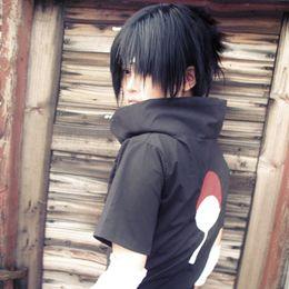 Uchiha Sasuke cosplay costumes Uchiha Sasuke Japanese anime Naruto Shippuden clothing halloween costume Masquerade costume black