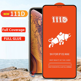 111D High Quality tempered glass protector for iphone XR XS Max X 8 7 6 Plus samsung galxay M50 M40 M30 M20 M10 A40 A70 A80 A90 Huawei P30