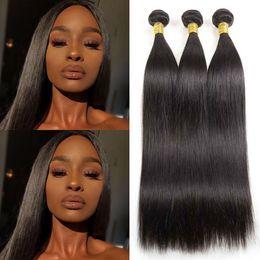 Straight Raw Indian Hair Bundles 3 Bundles Lot Deals Natural Color 100% Human Hair Weave Virgin Straight Hair Wefts