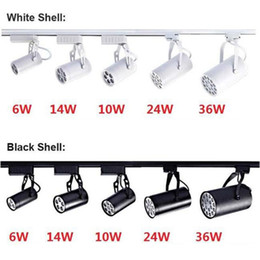 Led Track Light 6W 10W 14W 24W 36W 120 Beam angle cold Warm white Led Ceiling Spotlight AC 85-265V led spot lighting + CE ROHS UL