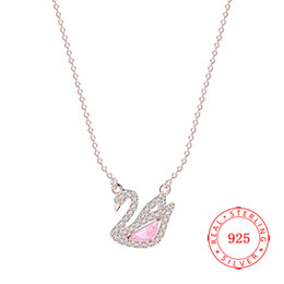 high quality new products Italy silver jewelry 925 Sterling Silver Swan Pendant rose gold plating pendant necklace jewelry wholesale