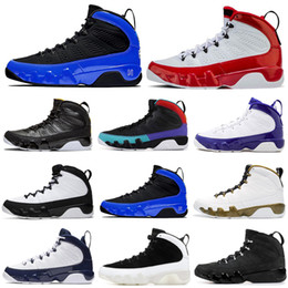 men basketball shoes 9 9s Gym Red Racer Blue UNC Bred Citrus Anthracite OG space jam mens trainers sports sneakers 7-13