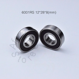 6001RS bearing rubber sealing bearings free shipping 6001 6001 RS 12*28*8mm chrome steel deep groove bearing