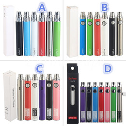 100% Original EcPow UGO Vapes UGO-T UGO-V UGO-VII UGO-V3 Batteries Preheating UGO V3 Variable Volt Pen 510 Thread E Cigarettes eGo EVOD Vape
