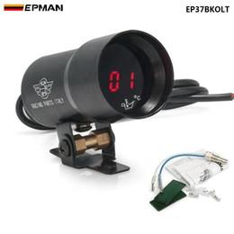 EPMAN - - 37mm METER GAUGE Compact Digital Smoked Lens Oil Temperature Gauge Auto gauge meter Black EP37BKOLT