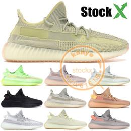2019 Kanye West Designer Shoes Black Static Reflective Blue Tint Luxury Men shoes Cream White Beluga 2.0 Women Sneakers 36-48