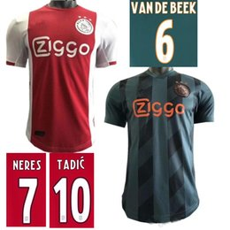 19 20 AJAX Soccer Jerseys Player Version Shirts 2019 2020 DE LIGT VAN DE BEEK NERES TADIC ZIYECH Football Top Adult Player Editon Sport Wear