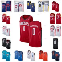 NCAA Russell 0 westbrook Jerseys James 13 Harden Derrick 25 Rose Chris 3 Paul DAngelo 1 Russell Mens College University 2019 City Basketball