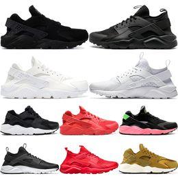 2019 Brand Huarache Run 1.0 4.0 Tripe Black White Rose Grey New Men Women Running Shoes Designer Sport Sneakers Size 36-45